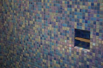 Cobalt blauwe badruimte
